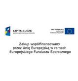 Zakup współfinansowany ze środków Unii Europejskiej w ramach Europejskiego Funduszu Społecznego